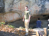 Tom at the picto cave